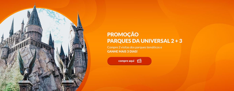 Promoção parques da Universal 2 + 3