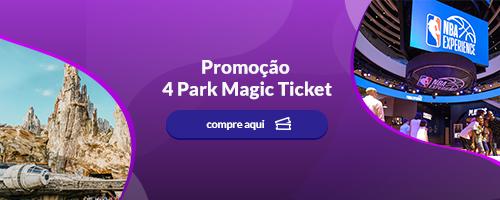 Promoção 4 Park Magic Ticket